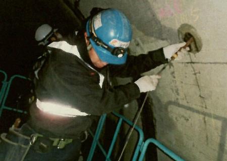 トンネル内空洞調査 2